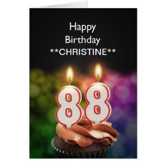 Add a name, 88th birthday card