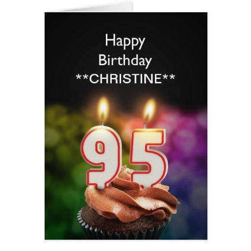 Add a name, 95th birthday card