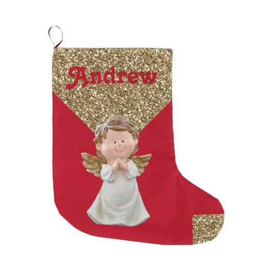 Add-A-Name - Christmas Stocking - Vintage Angel