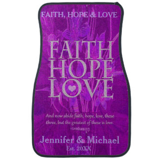 Add a Name | Faith, Hope and Love Car Mat