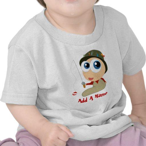 Add A Name Fishing Baby T-shirt
