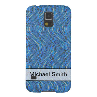 Add A Name Simple Blue Pattern Cases For Galaxy S5