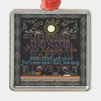 Add a Name Sunshine Chalkboard Christmas Ornament
