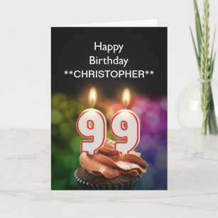 99th birthday cards zazzle uk add a name to this 99th birthday card with candles m4hsunfo
