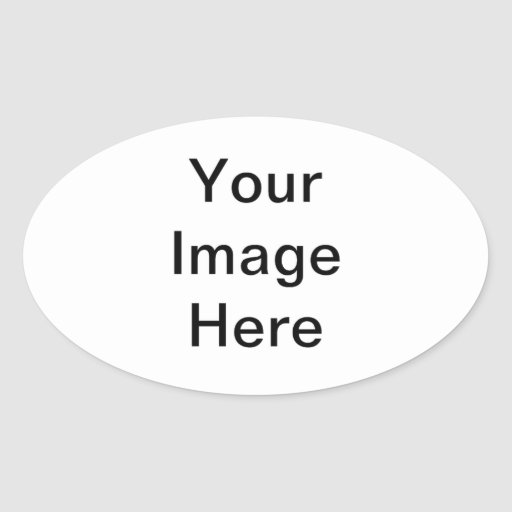 Add A Photo Gifts Oval Stickers