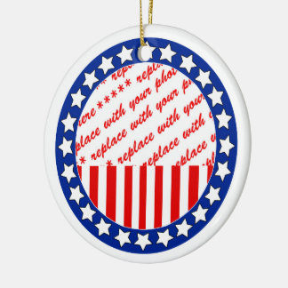Add a Photo of Your Candidate - Photo Template Round Ceramic Decoration