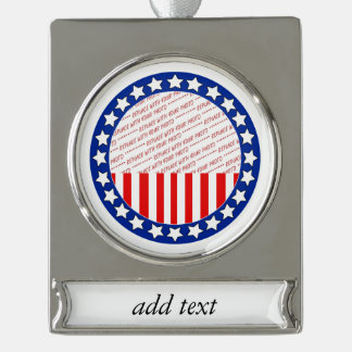 Add a Photo of Your Candidate - Photo Template Silver Plated Banner Ornament