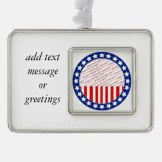 Add a Photo of Your Candidate - Photo Template Silver Plated Framed Ornament