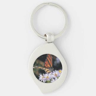 add a photo Silver-Colored swirl key ring