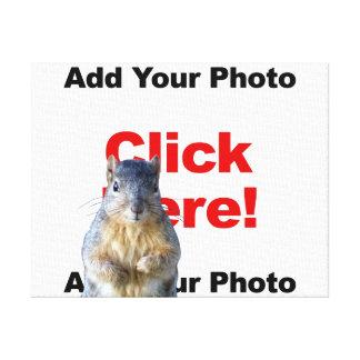 Add A Squirrel Custom Canvas Print