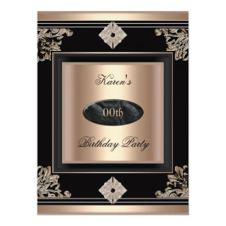Add Age Birthday Party Art Deco Black Coffee Card