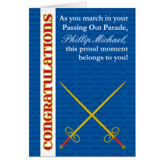 Add Any Name Custom Passing Out Congratulations Card
