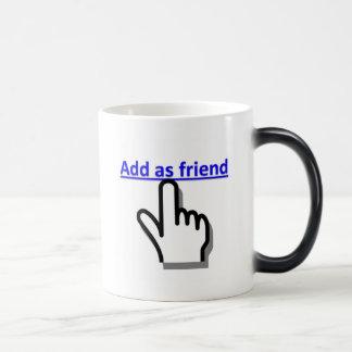 Add as friend morphing mug