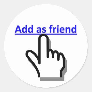 Add as friend round sticker