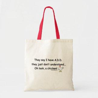 ADD Chicken Humor Budget Tote Bag