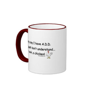 ADD Chicken Humor Ringer Mug