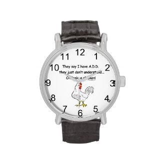 ADD Chicken Humor Wrist Watches