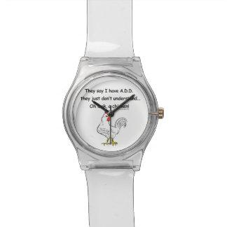 ADD Chicken Humor Wrist Watch