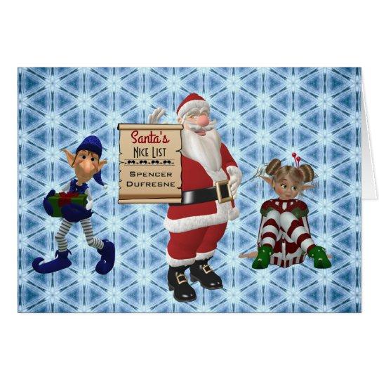 "Add Child's Name ""Santa's Nice List"""