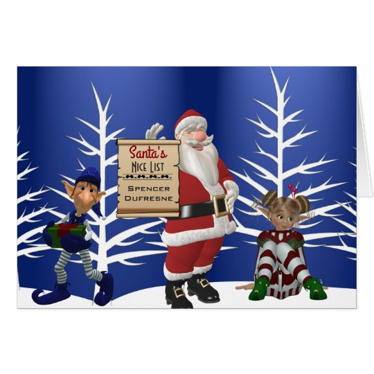 "Add Child's Name ""Santa's Nice List"" Holiday"
