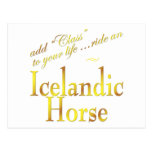 Add Class to your life, ride an Icelandic Horse Postcard
