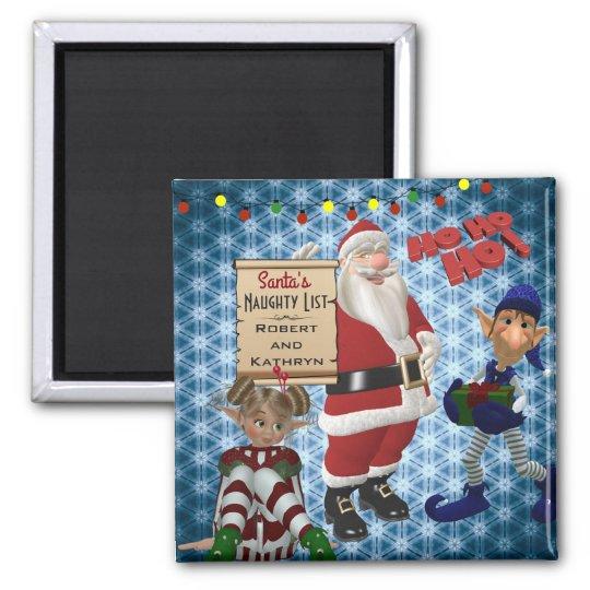 "Add Couple's  Name ""Santa's Naughty List"" Magnet"