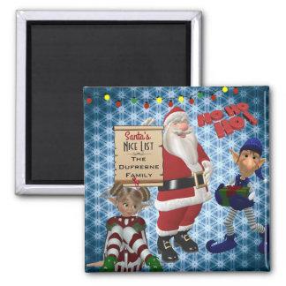 "Add Family Name ""Santa's Nice List"" Magnet"