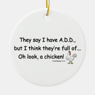 ADD Full of Chickens Christmas Ornament