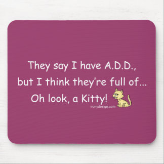 ADD full of Kitty Humor Mouse Mat
