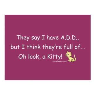 ADD full of Kitty Humor Postcards