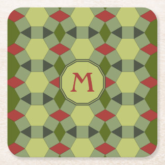 Add initial tessellation tiles pattern square paper coaster