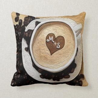 Add Initials Coffee Cushion