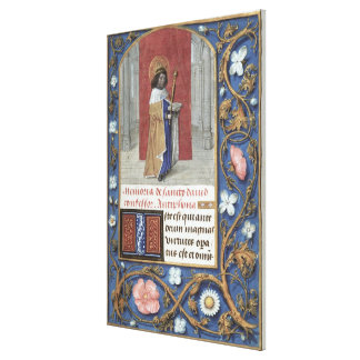 Add Ms 54782 f.40 St. David, from the Hastings Hou Canvas Print