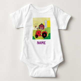 Add Name BABY FARM ANIMALS personalized Tee Shirts