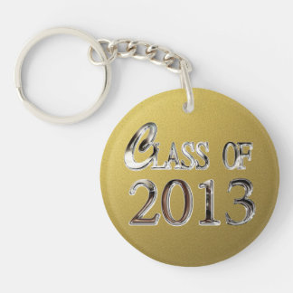 Add Name Gold Silver Class Of 2013 Keychain