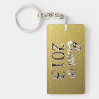 Add Name Gold & Silver Class Of 2013 Keychain