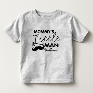 Add Name Mommy's Little Man Shirt