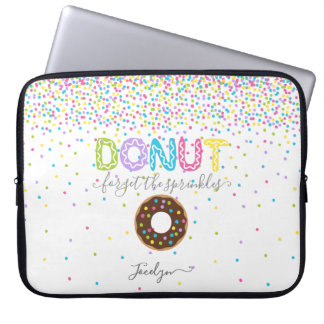 Add Name Personalised Doughnut Forget the Laptop Sleeve