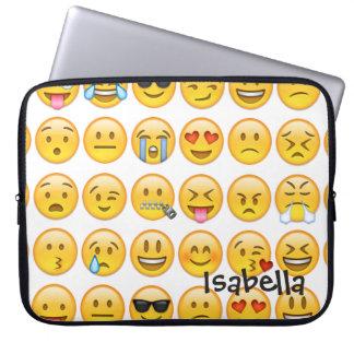 Add Name Personalised Emoji Laptop Sleeve