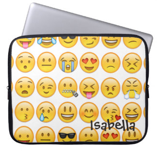 Add Name Personalized Emoji Laptop Sleeve