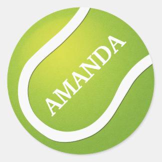 Add name tennis sports ball sticker