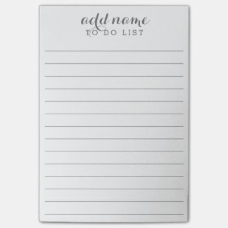 Add Name - To Do List with lines Post-it Notes