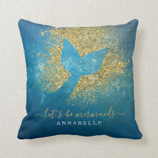 Add Name to Personalised Mermaid Tail Cushion
