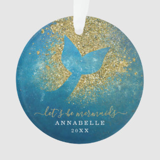 Add Name to Personalised Mermaid Tail Ornament