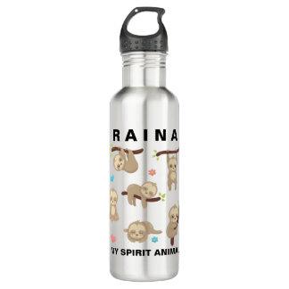 Add Name to Personalised Sloth - My Spirit Animal 710 Ml Water Bottle