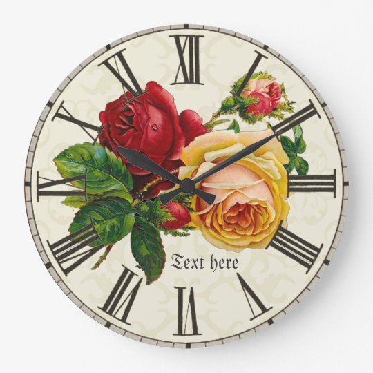 Add name to shabby chic vintage art roses