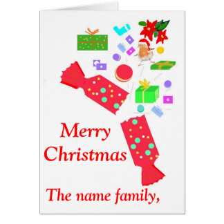 Add names front Christmas decorations card