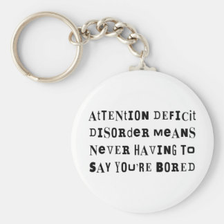 ADD Never Bored Basic Round Button Key Ring