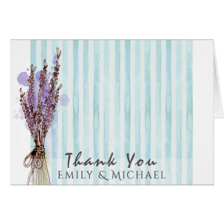Add Own PHOTO THANK YOU Card Lavender
