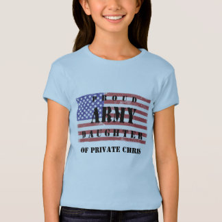 Add Parent's Name Proud Army Daughter Shirt